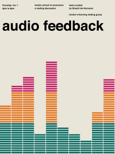 Audio feedback LERG poster by Leonard Houx